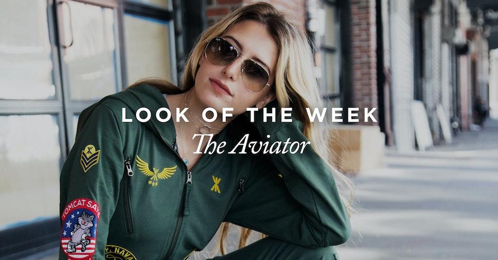 Onepiece look of the week aviator jumpsuit