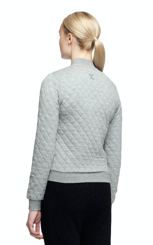 Onepiece Love College Jacket Grey Melange