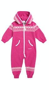 Onepiece Lusekofte Baby Jumpsuit Raspberry Melange