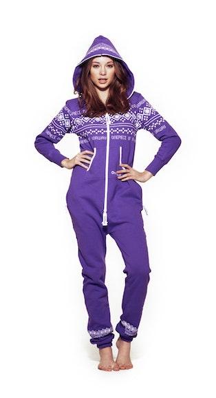Onepiece Lusekofte Onesie Purple White 3fe034ff9