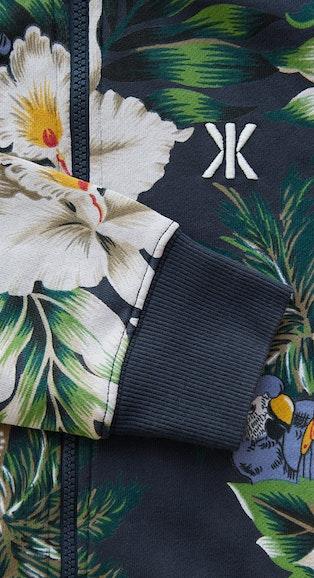 Onepiece Macaws Jumpsuit Navy Print