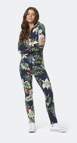 Onepiece Macaws slim jumpsuit Navy print