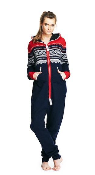 Onepiece Marius Heavy Knit Onesie Navy/Red/White