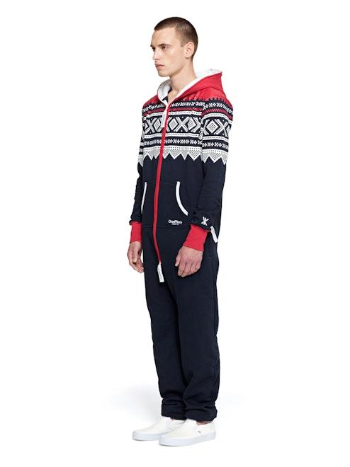 Onepiece Marius Onesie Navy/Red/White