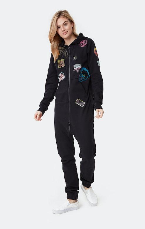 Onepiece Miami Patch Jumpsuit Black