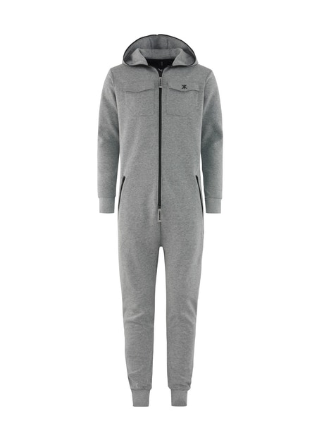 Onepiece Military Jumpsuit Grey Melange