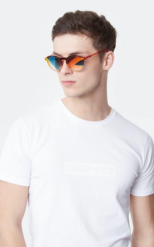 Onepiece Mirror Shades Orange