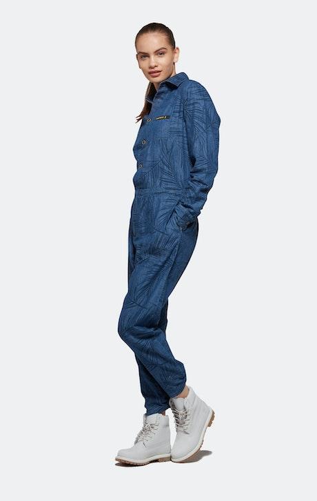 Onepiece Momentum Printed Jumpsuit Denim Blau