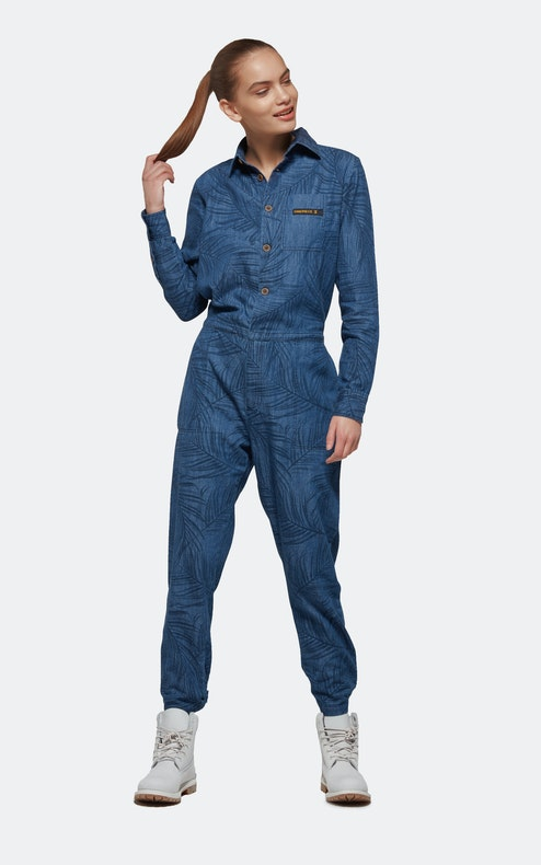 A blue jumpsuit is a one-piece garment made in different ways. The jumpsuit is a comfortable garment because it is loose-fitting and does not have the tight waistline like shorts or pants. The garment is available in a variety of blue shades such as royal, navy, and sapphire blue.