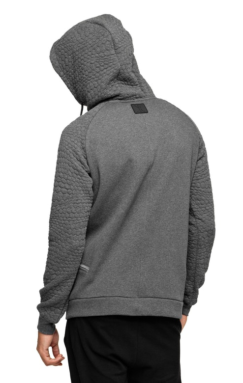 Onepiece Motion Zip Hoodie Dark Grey Melange