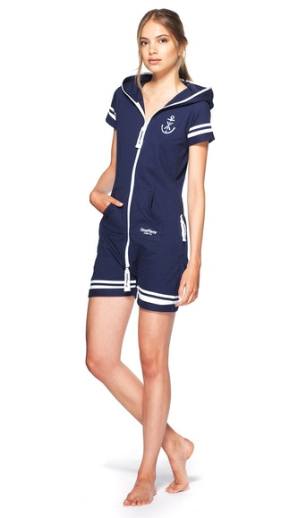 179c78d567 Onepiece Naval Fitted Short Jumpsuit Midnight Blue