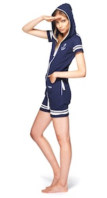 Onepiece Naval Fitted Short Jumpsuit Midnight Blue