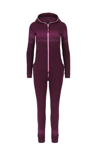 Onepiece North Slim Jumpsuit Burgundy
