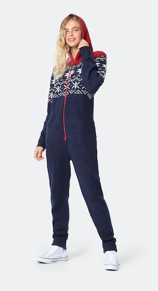 Onepiece Norwegian Heritage Jumpsuit Navy