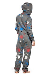 Onepiece One Direction All over Print Black Zip