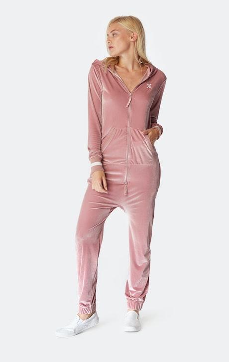Onepiece Original Velour Jumpsuit Faded Pink