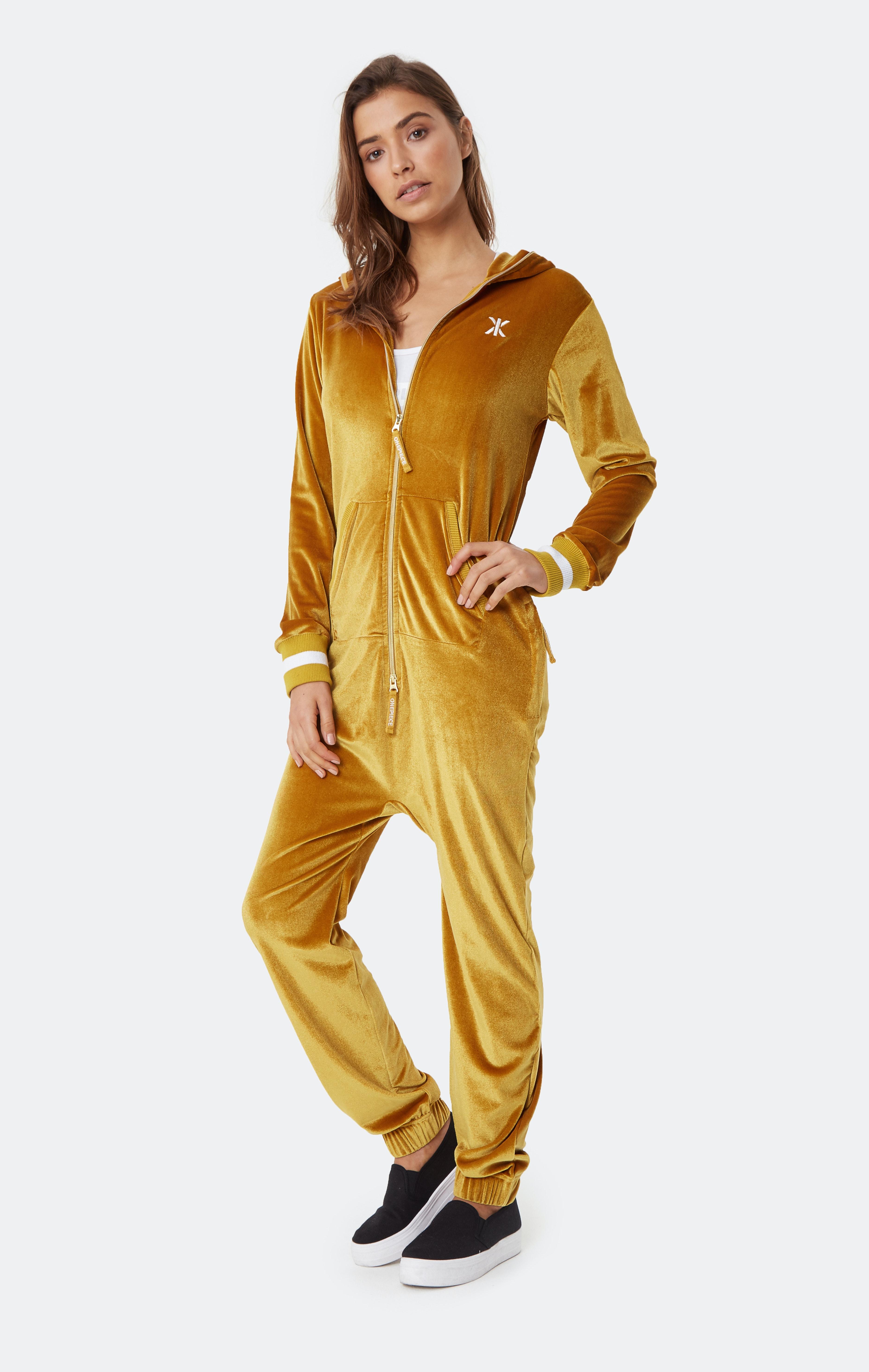 Original Velour Jumpsuit Gold