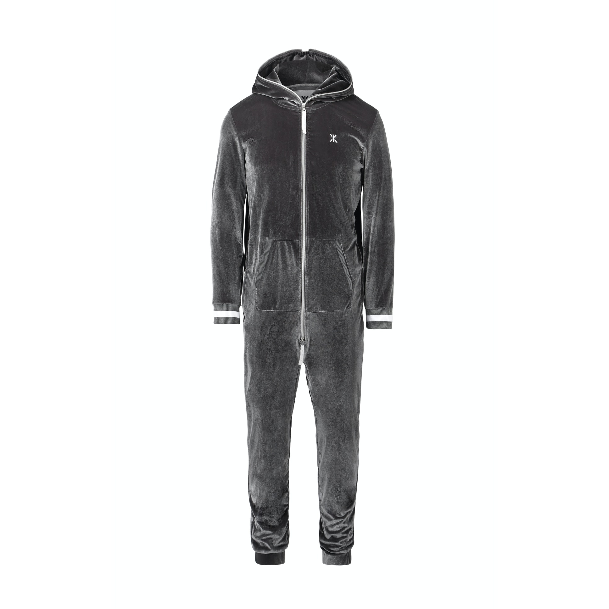 original velour jumpsuit grey