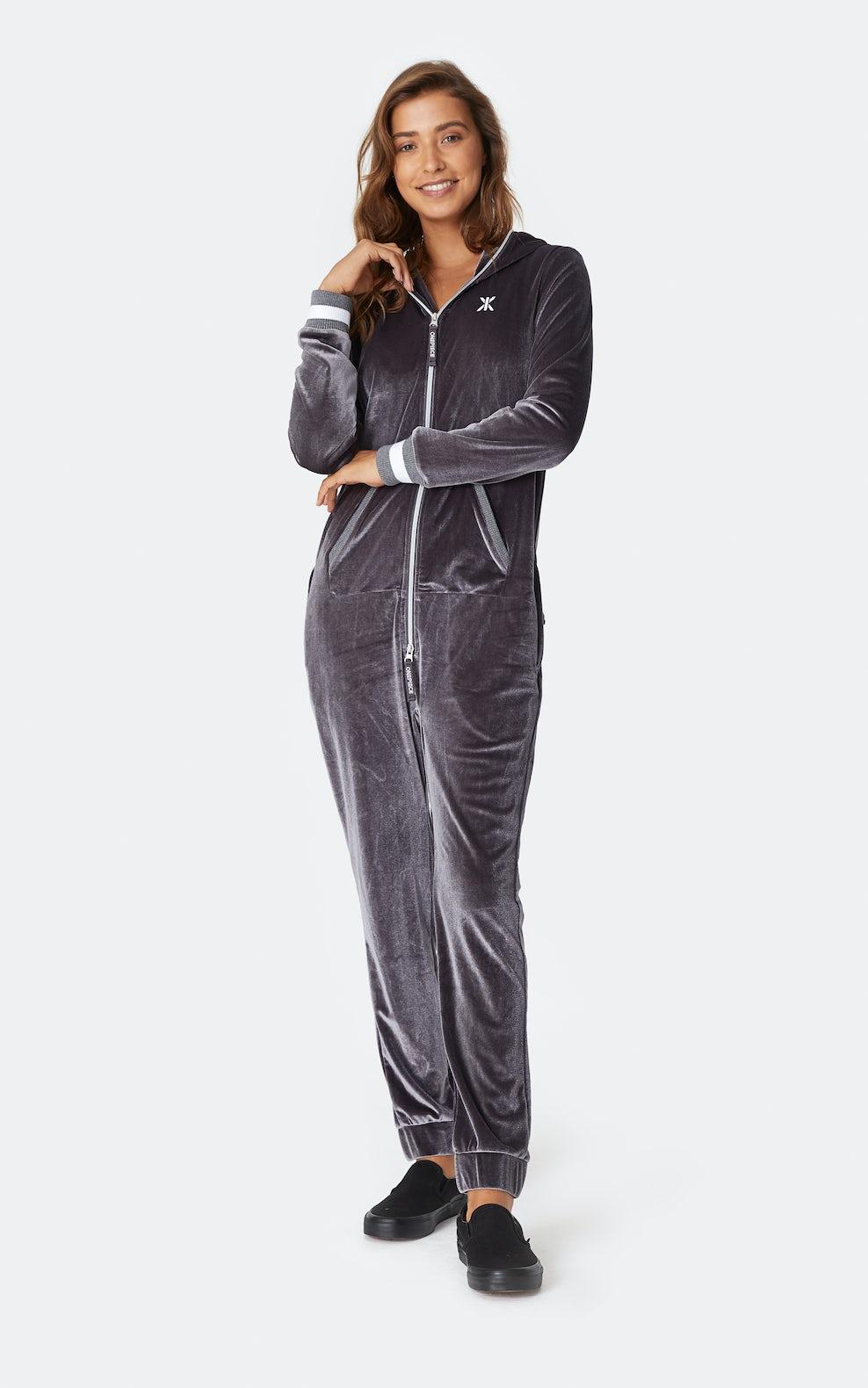 Original Velour Jumpsuit Grey Onepiece Premium Onesies