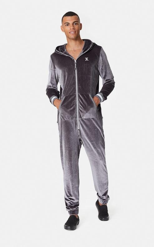 Onepiece Original Velour Jumpsuit Grey