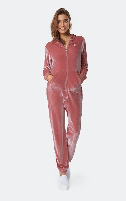 Onepiece Original Velour Jumpsuit Pink
