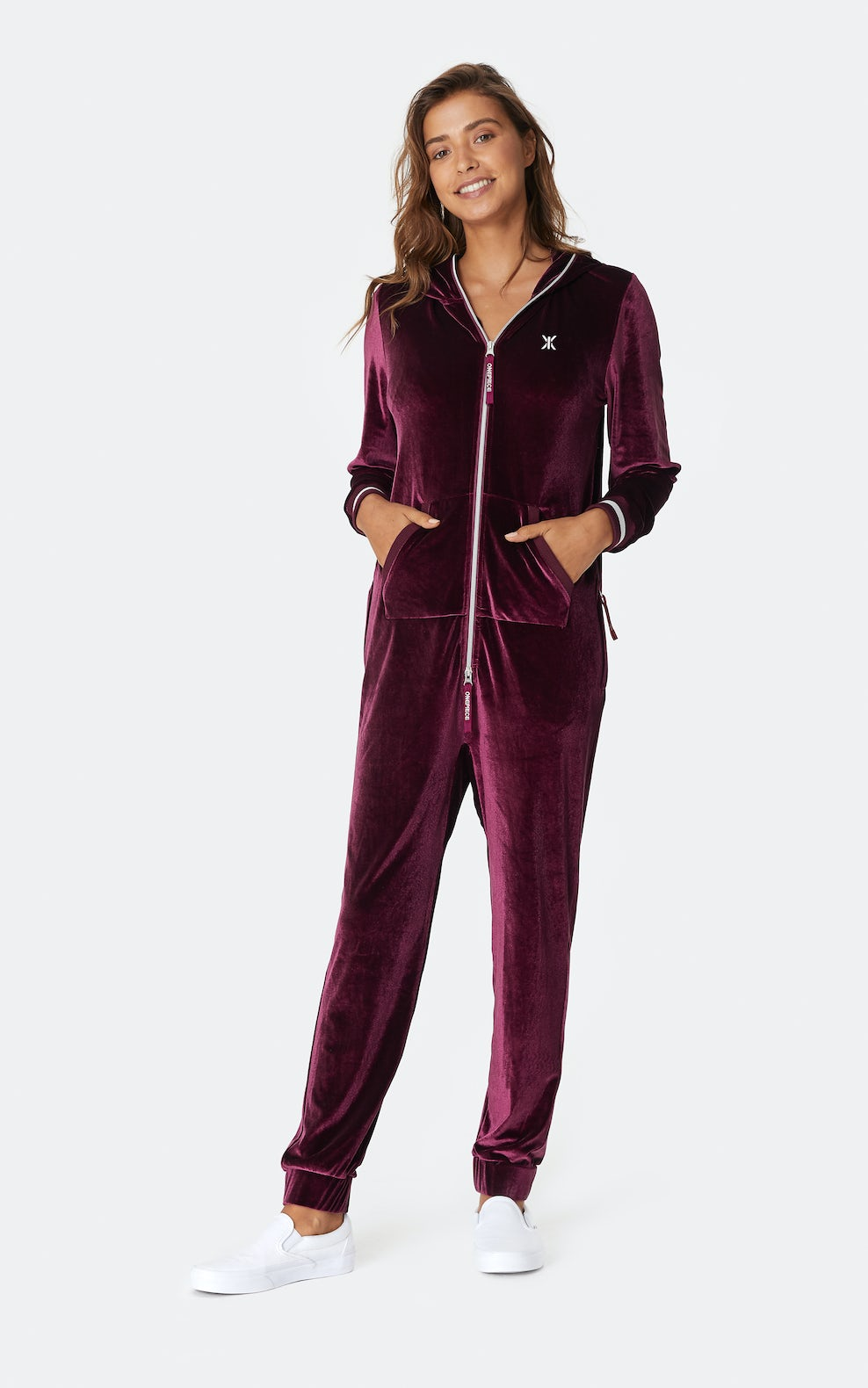 Original Velour Jumpsuit Plum