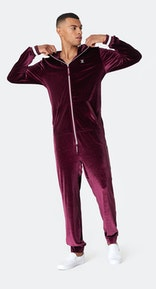 Onepiece Original Velour Jumpsuit Plum