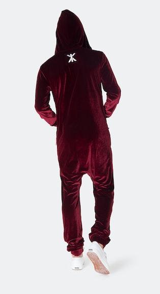 Onepiece Original Velour Jumpsuit Red