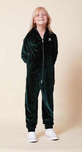 Onepiece Original Velour Kids jumpsuit Green