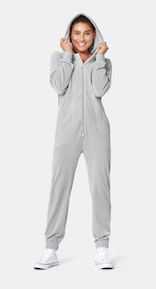 Onepiece Original Velvet Jumpsuit Light Grey