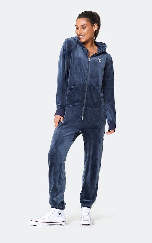 Onepiece Original Velvet Jumpsuit Navy