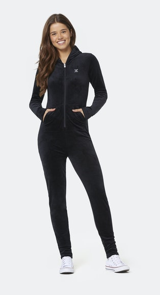 Onepiece Original Velvet Slim Jumpsuit Black