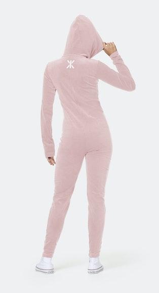 Onepiece Original Velvet Slim Jumpsuit Rosa
