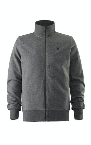 Onepiece Out High Neck Zip Nep Dark Grey