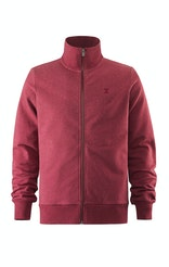 Onepiece Out High Neck Zip Rouge Chiné