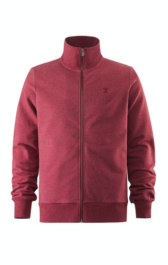 Onepiece Out High Neck Zip Red Melange