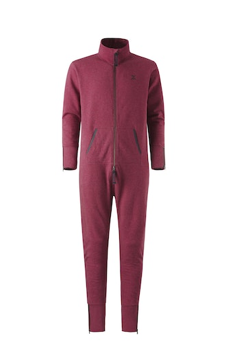 Onepiece Out Jumpsuit Rouge Chiné