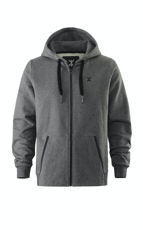 Onepiece Out Zip Hoodie Nep Dark Grey