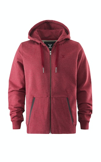 Onepiece Out Zip Hoodie Rouge Chiné