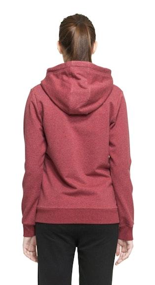 Onepiece Out Zip Hoodie Red Melange