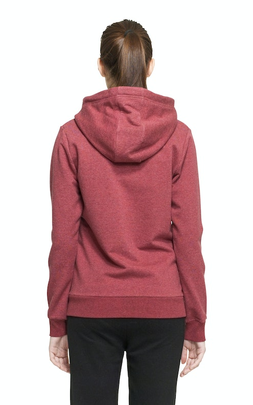 Onepiece Out Zip Hoodie Rot meliert