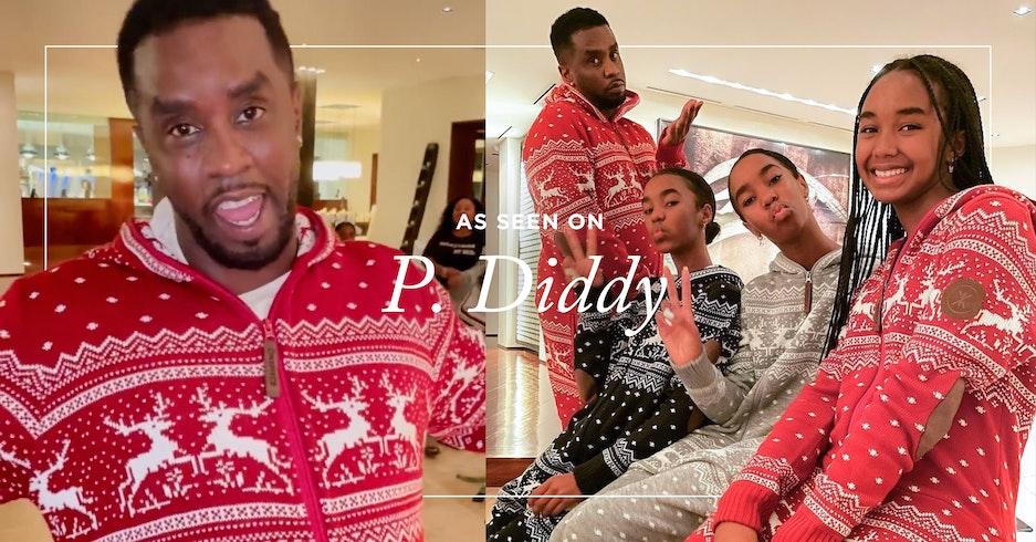 P Diddy gets festive in onepiece onesie