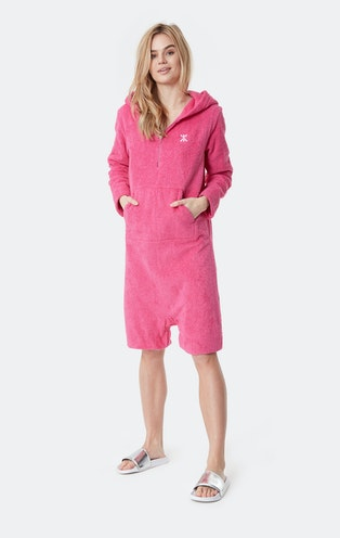 Onepiece Towel Jumpsuit Hot Pink