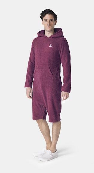 Onepiece Pearl Towel Jumpsuit Burgunderrot