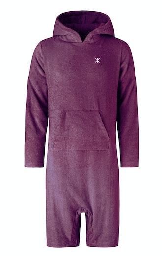 Onepiece Pearl Towel Jumpsuit Burgundy