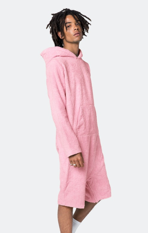 Onepiece Pearl Towel Jumpsuit Light Pink