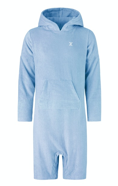 Onepiece Pearl Towel Jumpsuit Sky Blue