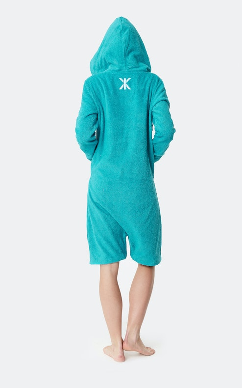Onepiece Towel Jumpsuit Turquoise