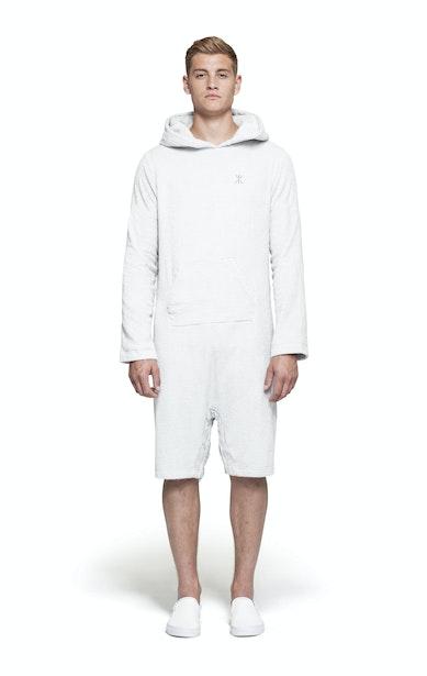 Onepiece Pearl Towel Jumpsuit Weiß