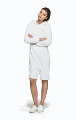 Onepiece Pearl Towel Jumpsuit White